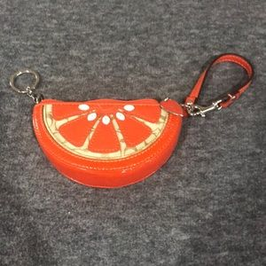 Coach Orange Coin Purse/ Keychain